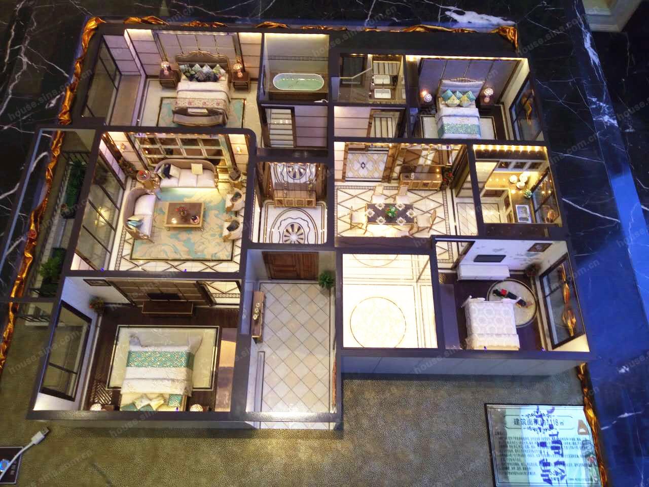 绿城锦玉园 4室2厅2卫,118平米(建面)