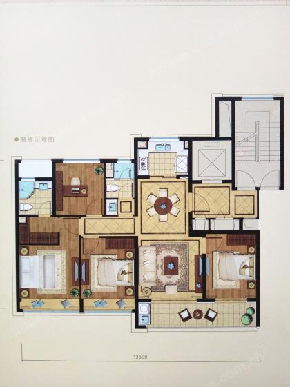 绿城锦玉园,4室2厅2卫,120平米(建面)