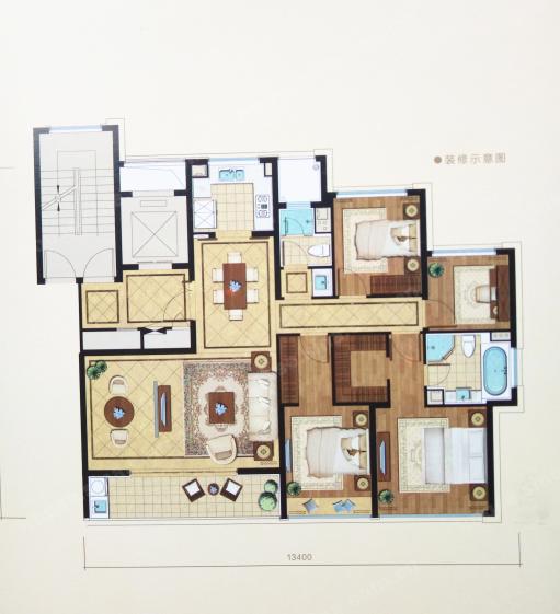 绿城锦玉园,4室2厅2卫,140平米(建面)