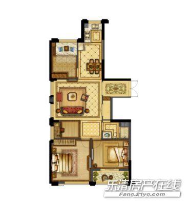天元·127㎡三房两厅