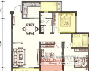 金马广场3室2厅2卫清爽装修高层手续清晰